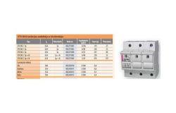 Ieliktņu drošinātājslēdzis ETI, 63A, 3p, STV, 400V, D02/gL
