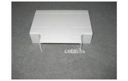Pareja T-veida kab.kan balts, T-veids, 100x40