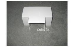 Pareja T-veida kab.kan balts, T-veids, 60x25