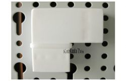 Līkums kabeļkanāliem 90*, balts, 30x16, (40)