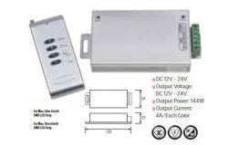 Pults LED, Horoz, 4A, 144W, RGB, pults, 12-24V
