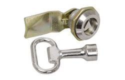 Slēdzenes mehanizms IEK, IP54, metāls, ar trijstūra atslēgu