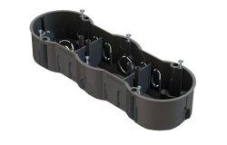 Nozarkārba IEK, betonam, 3-viet., IP20, melns, 213x70x45mm