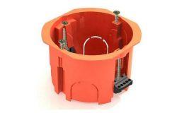 Nozarkārba IEK, reģipšu, IP20, oranža, d65x46mm ar skrūvēm un plast. klipšiem (UKG10-065-040-000-P)