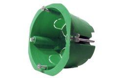 Nozarkārba IEK, reģipšu, IP20, zaļa, d65x46mm ar skrūvēm un metāla klipšiem (UKG10-065-040-000-M)