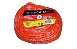 Pagarinātājs Schust EL, 2x1.0, 20m, a/z, oranžs