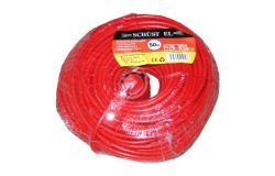 Pagarinātājs Schust EL, 3x1.5, 25m, a/z, oranžs/sarkans