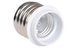 Adapterid lambid E40-E27, IEK, IP20, valge, plastist