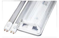 Gaismeklis LED, Brillight, 2xT8, 36W, 3600lm, 4000K, IP65, divpusējā, L1200mm, ABS+PS