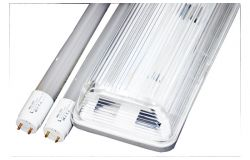 Gaismeklis LED, Brillight, 2xT8, 36W, 3600lm, 6000K, IP65, vienpusējā, L1200mm, ABS+PS