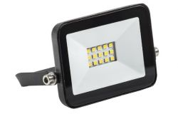 Floodlight LED, IEK, 10W, 900lm, 4000K, IP65, black, L101mm, W25mm, H92mm