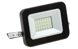 Floodlight LED, IEK, 20W, 1800lm, 4000K, IP65, black, L130mm, W25mm, H107mm