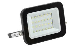 Floodlight LED, IEK, 30W, 2700lm, 4000K, IP65, black, L161mm, W25mm, H130mm
