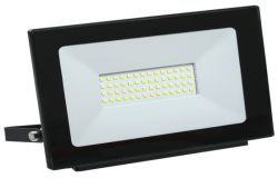 Floodlight LED, IEK, 50W, 4500lm, 4000K, IP65, black, L210mm, W33mm, H173mm