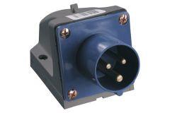 Kontaktdakša IEK, 16A, 2P+PE, 220V, IP44, stacionārā
