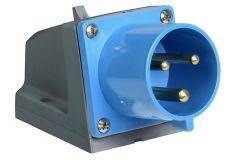 Kontaktdakša IEK, 32A, 2P+PE, 220V, IP44, stacionārā