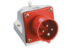 Kontaktdakša IEK, 32A, 3P+PE, 380V, IP44, stacionārā