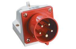 Kontaktdakša IEK, 32A, 3P+PE+N, 380V, IP44, stacionārā