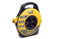 Spole pagarinātāja IEK, 3x1.0mm2, 10m, 2P+PE, 4 viet., a/z, Industrial