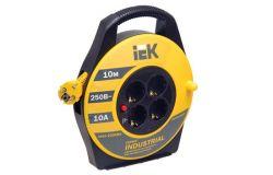 Spole pagarinātāja IEK, 3x1.5mm2, 10m, 2P+PE, 4 viet., a/z, Industrial