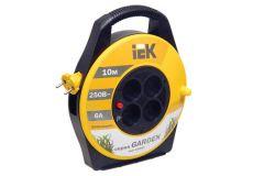 Spole pagarinātāja IEK, 2x0.75mm2, 10m, 2P, 4-viet., ar termoaizs., Garden
