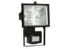 Halogena prožektors IO500D ar sensoru melns IP54  IEK
