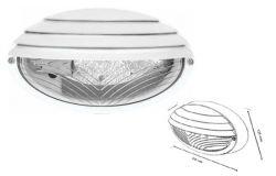 Plafond E27, NEMLIYER, Max 60W, IP65, white, oval 1/2 sieve, L235mm, plastic, W135mm, H107mm