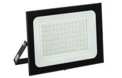 Prožektors LED, IEK, 100W, 8000lm, 6500K, IP65, melns, L264mm, W31mm, H269mm