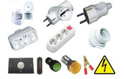 Cartridges, forks, adapters, switches, sockets, sensors, bells