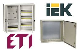 Коробки под автоматические выключатели, шкафы IEK, ETI