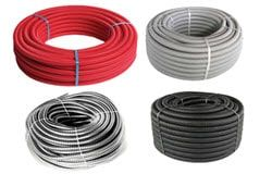 PVC pipes, corrugates pipes, cable channels