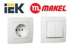 Sockets and switches MAKEL, ABB, IEK, OVIVO, ABL SURSUM