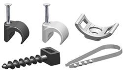 Round and flat wire clamps